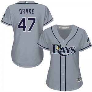 Women's Majestic Tampa Bay Rays Oliver Drake Gray Cool Base Road Jersey - Replica